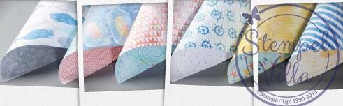 Designerpapier-Auf-hoher-See
